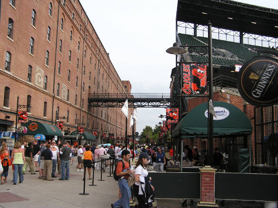 Eutaw St, in front of the Warehouse