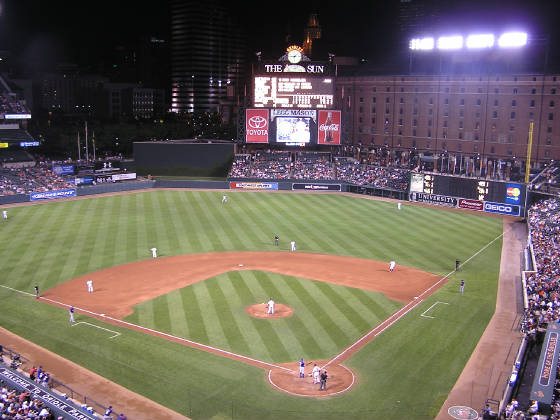 The view from behind Home Plate - Oriole Park