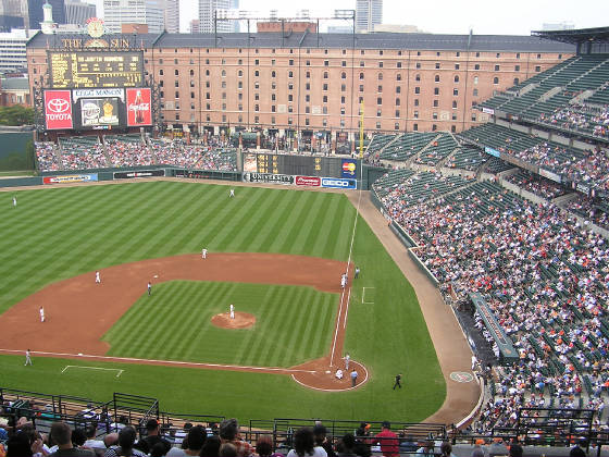 Oriole Park from the 3rd base side